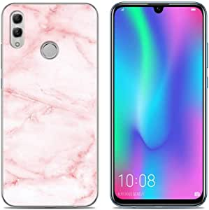 Huawei Honor 10 Lite phone case soft tpu painted cover all inclusive shell anti fall protective sleeve-pink marble