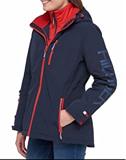 4c1697afe8b5 Amazon.com  Tommy Hilfiger Women s Flag Patch Puffer Coat