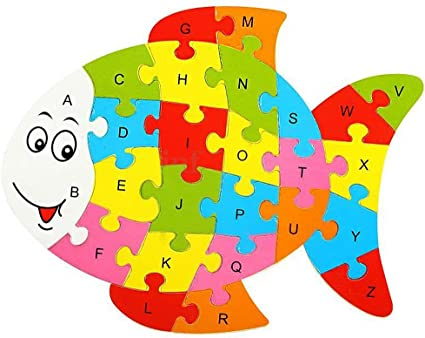 Wooden jigsaw//puzzle lion with numbers and letters,colorful educational toy