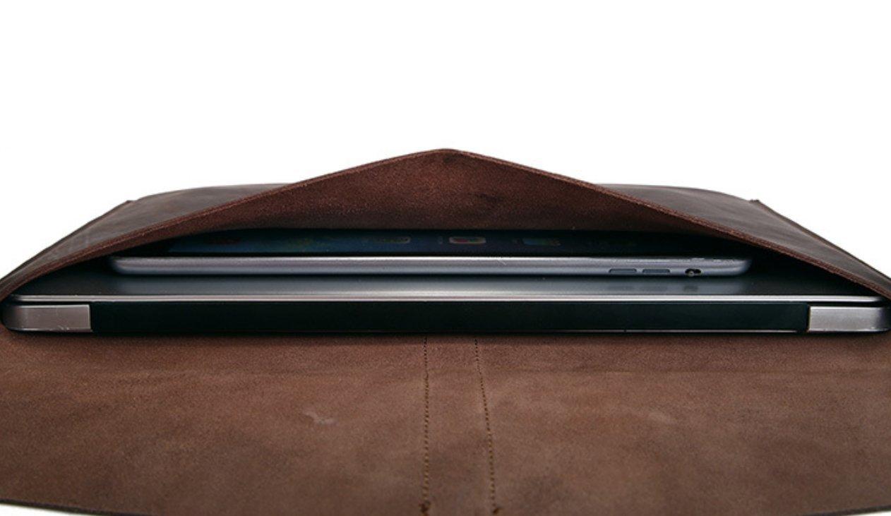 file Folder pocket Messenger bag case Briefcase cow Leather customize brown z624