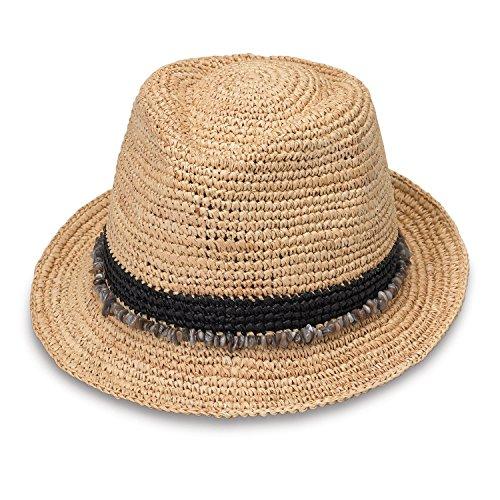 Wallaroo Hat Company Women's Tahiti Sun Hat - Fedora-Style Sun Hat, Black