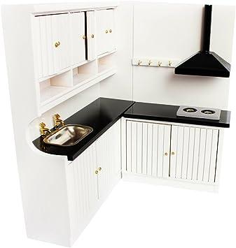 Amazon.es: F Fityle Juegos Muebles de Cocina para Casa de Muñecas 1:12 Color Blanco: Juguetes y juegos