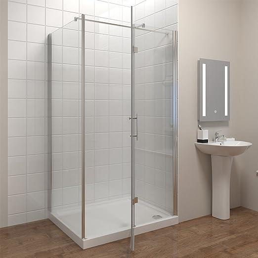 80 * 80 cm Mampara de ducha EchtGlas ducha pared puerta de ducha con pared lateral y ducha bañera Altura 195 cm: Amazon.es: Bricolaje y herramientas