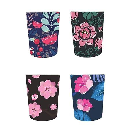 YaYa Cafe™ Floral Flower Gorgeous Decorative Pots Planter Indoor (Only Pots) Set of 4