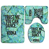 Trust Me, You Can Dance Vodka Skidproof Toilet Seat Cover Bath Mat Lid Cover