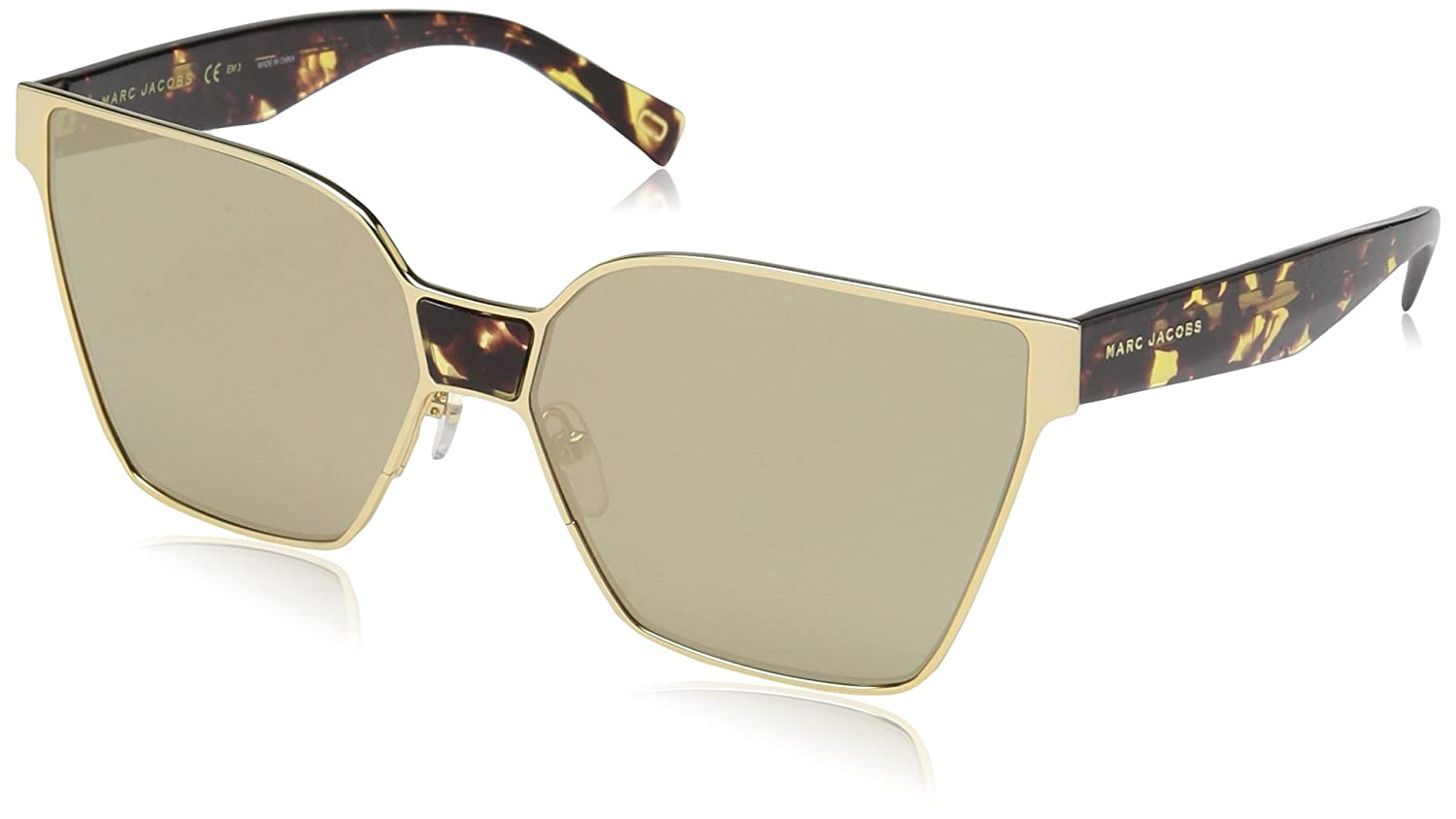 85c61d57bae Amazon.com  Marc Jacobs Women s Marc212s Rectangular Sunglasses GOLD 60 mm   Clothing