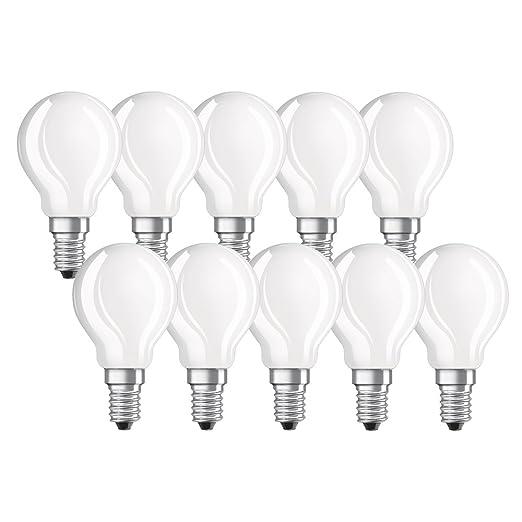 Osram 976887 Bombilla LED E14, Blanco, Lote de 10 Unidades