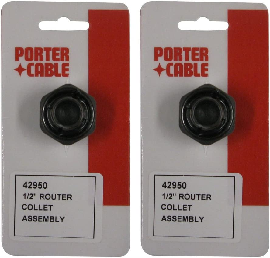 """Porter Cable 2 Pack OF OEM Replacement 1/2"""" Collets For for 690/6902 Router # 42950-2PK"""