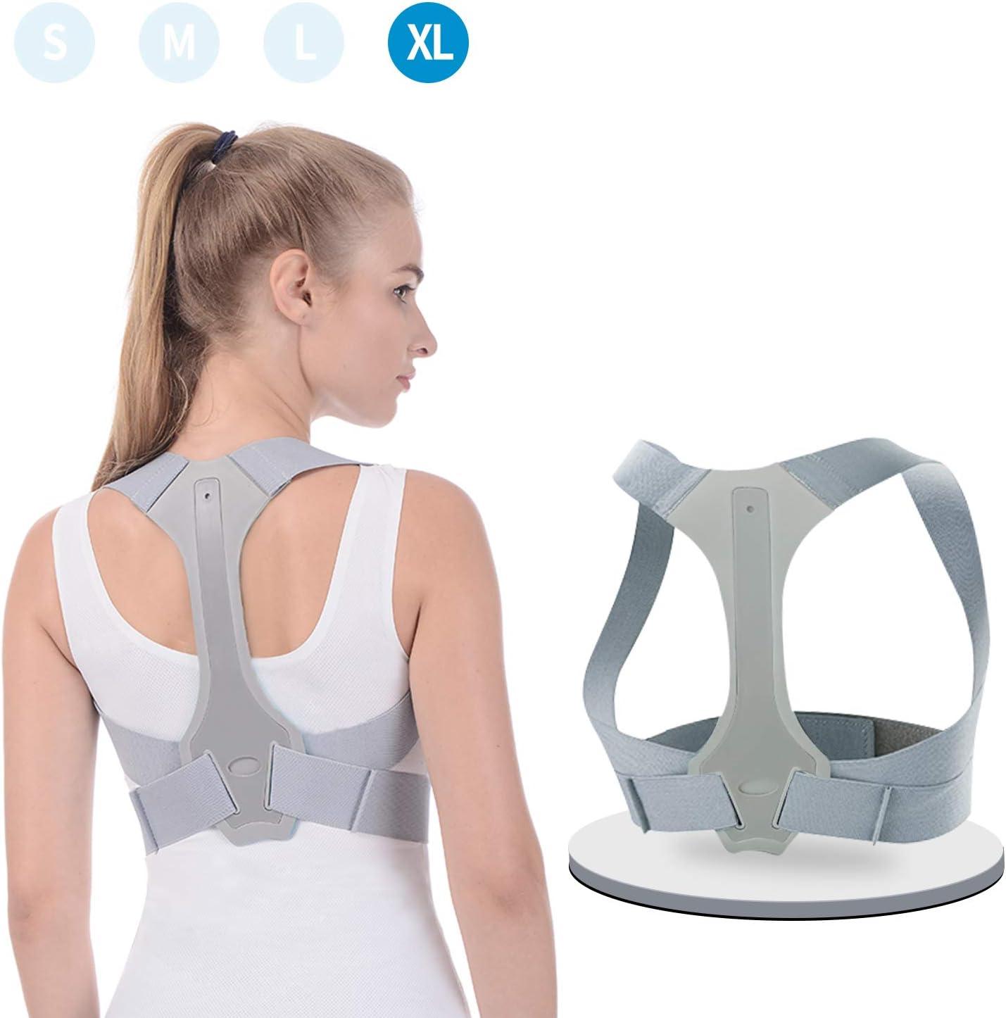 ANOOPSYCHE Corrector de Postura Espalda Hombros Para Hombre y Mujer Talla Asjustable Chaleco Corrector de Postura Transpirable es Ideal para Aliviar los Dolores Dorsales,Thoraciques,Cuello y Hombros