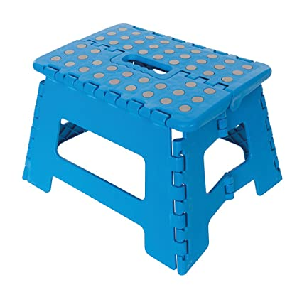 Sensational Silverline Tools Folding Step Stool 150Kg Blue 25 X 3 X 25 Cm Gmtry Best Dining Table And Chair Ideas Images Gmtryco