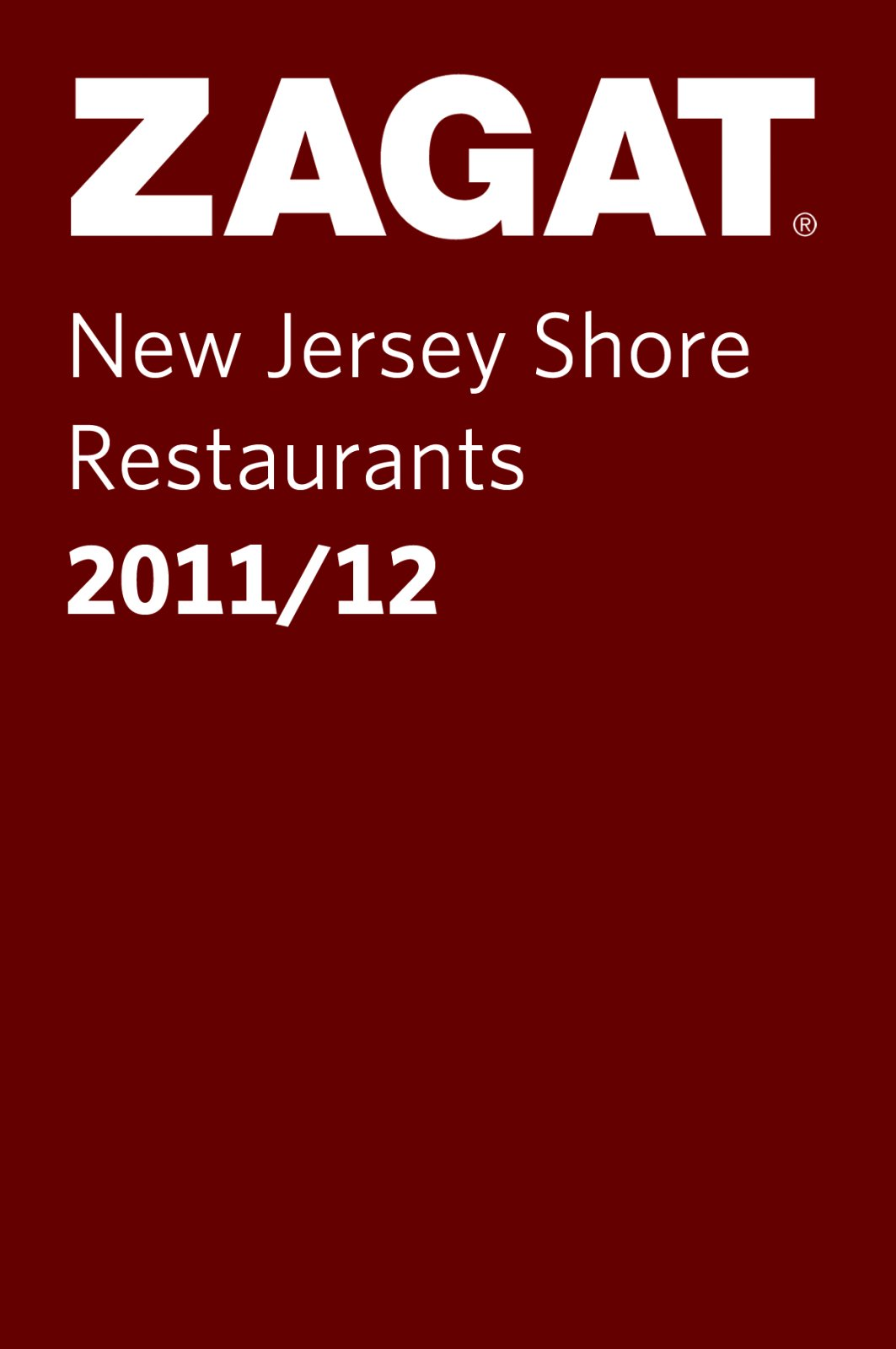 2011/12 New Jersey Shore Restaurants (Pocket Guide) (ZAGAT Pocket Guides) PDF