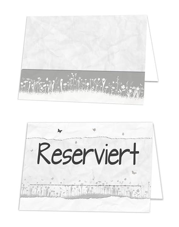 100 St. Reservado carteles en blanco gris, atril; mesa ...