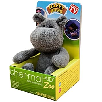 Amazon.com  Stuffed Hippo Natural Heating   Cooling Pack by Thermal ... 2ec6f1150f