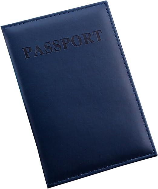 Funda para pasaporte de BulzEU, con ranuras para tarjetas, de piel ...