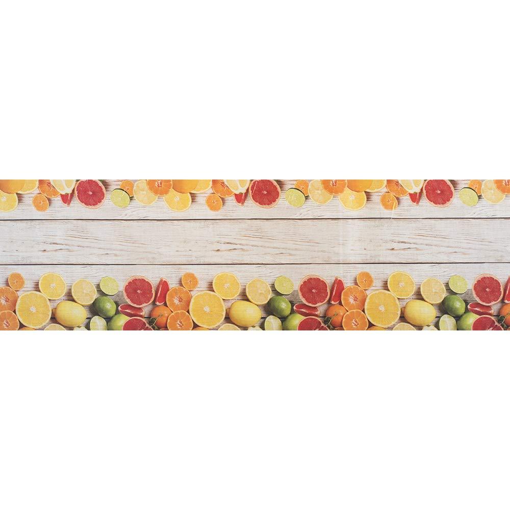 50x150 cm Tappeto passatoia made in Italy antiscivolo lavabile aderente Fantasia Agrumi Agrumi