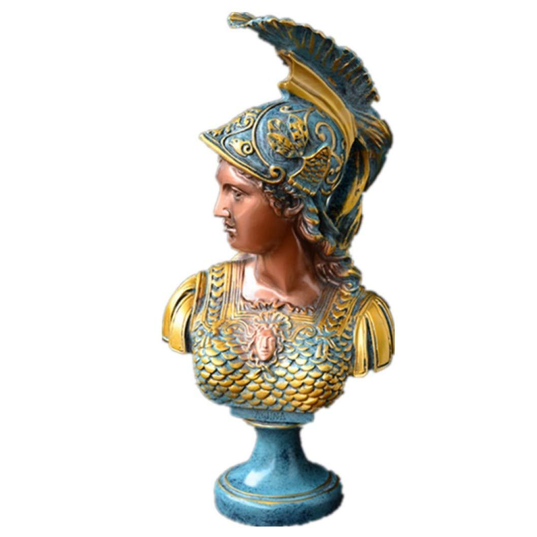 Athena Roman Goddess of Wisdom: Bonded Marble Figure Sculpture Design Bust Resin Crafts Home Decoration