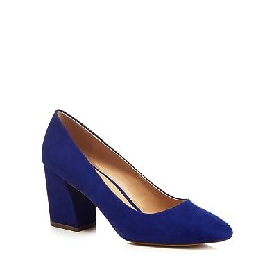 cheap sale genuine cheap sale geniue stockist Blue suedette 'Cooper' high block heel court shoes latest 17wS7X1BV