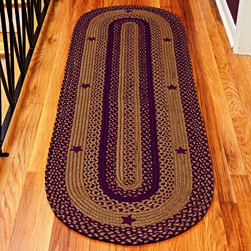 IHF Home Decor Braided Area Rug Oval Floor Carpet Country Style 27