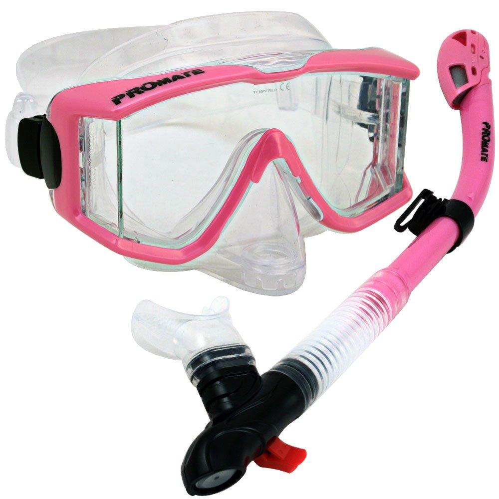 Snorkeling Scuba Dive DRY Snorkel Purge Mask w/ Panoramic View Dive Gear