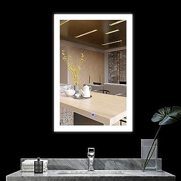 Led Backlit Bathroom Mirror Defogger Picturesque Www Picturesboss Com