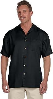 dc3a940daed7f1 Harriton Men's Barbados Textured Camp Shirt at Amazon Men's Clothing ...