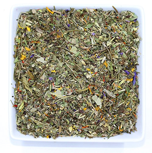 Tealyra - Wild Mountain Herbs - Fennel - Sage - Mint - Nettle - Wellness Herbal Loose Leaf Tea - Calming and Relaxing Bedtime Infustion - Caffeine-Free - 112g (4-ounce)