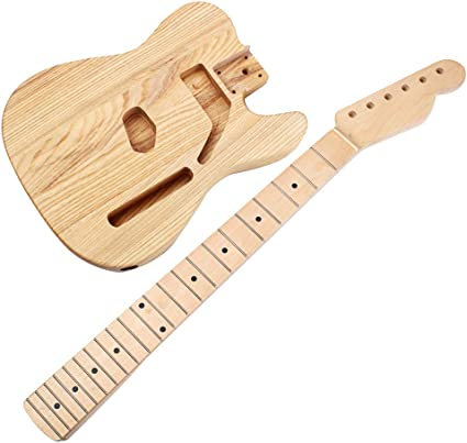 Homyl - Cuerpo de guitarra sin acabado + mango de guitarra para ...