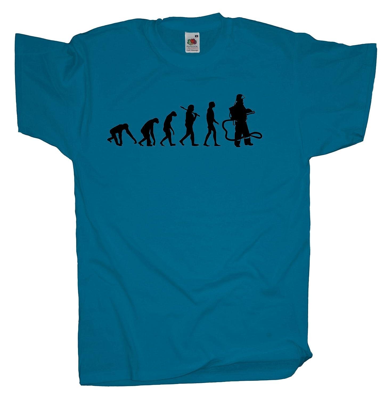 Ma2ca - Evolution - Feuerwehrmann - Herren T-Shirt | Feuerwehr: Amazon.de:  Bekleidung
