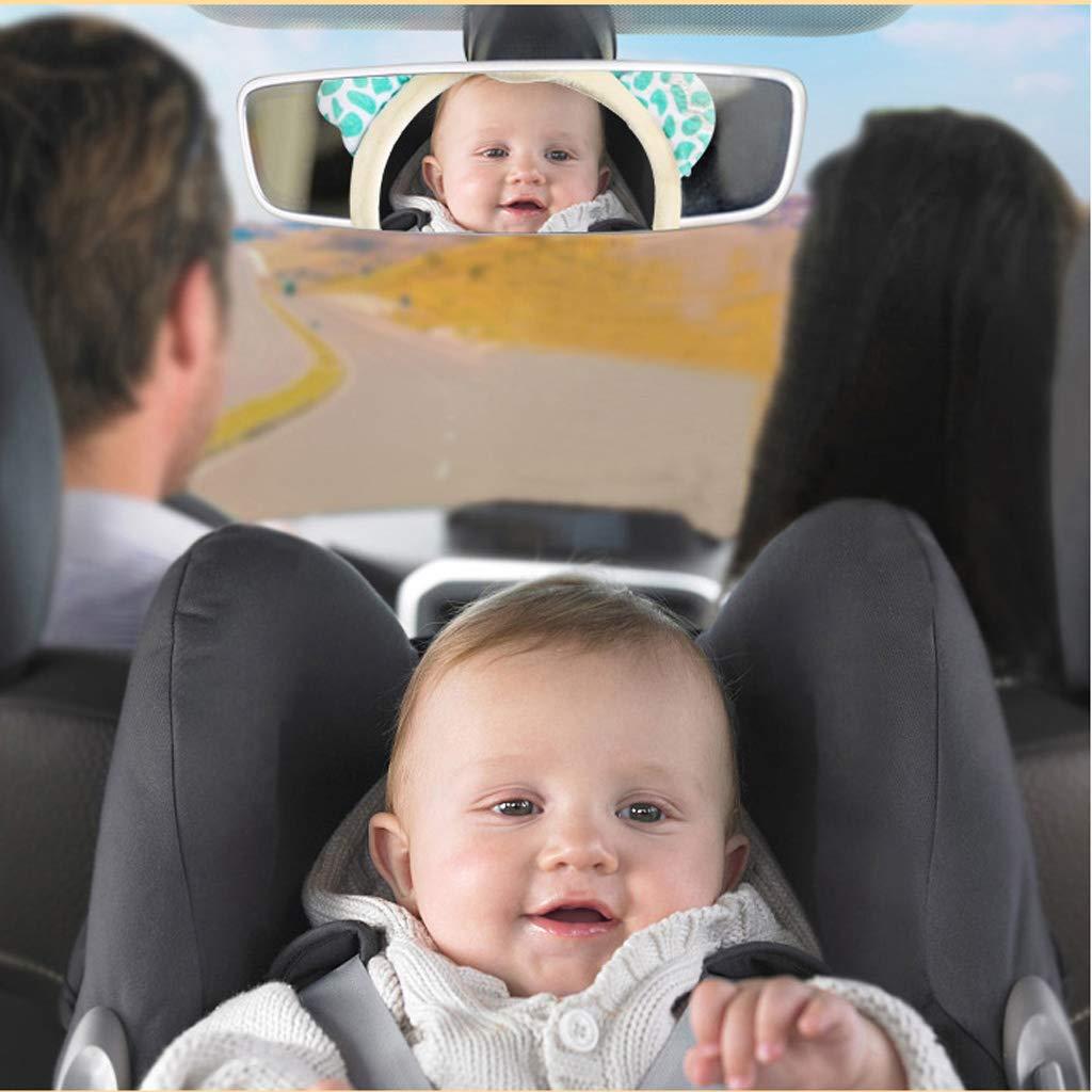 Luluspace Autospiegel Baby Rückspiegel Rücksitzspiegel Für Babys Rückspiegel Baby Auto Baby Autospiegel Sicherheitsspiegel 28 21cm Mit Cover Deer Baby