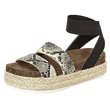 fb1e6a0f443e8 Amazon.com: Duseedik Summer Women's Espadrille Sandals Fashion Snake ...