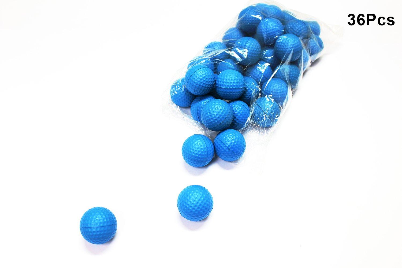 Posma PB010BUS Practice PU Golf Balls, 36 Count, Blue