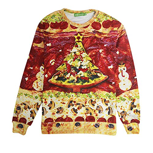 Christmas Snowman Pizza Pullover