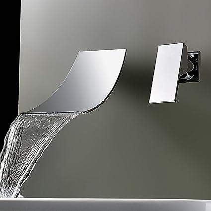 Classico 2 fori lavabo rubinetto cascata montaggio a parete ...