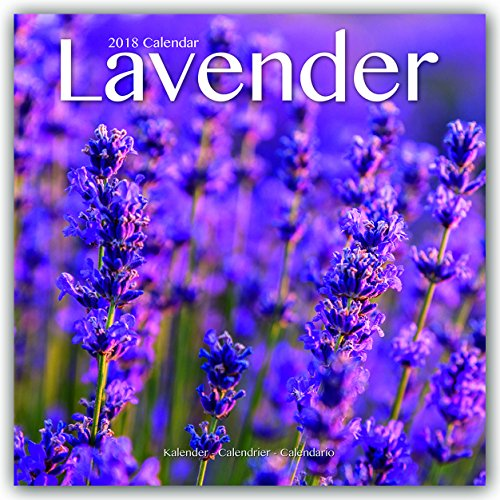 Garden Calendar - Lavender Calendar - Flower Calendar - Calendars 2017 - 2018 Wall Calendars - Garden Calendars - Flower Calendar - Lavendar 16 Month Wall Calendar by Avonside