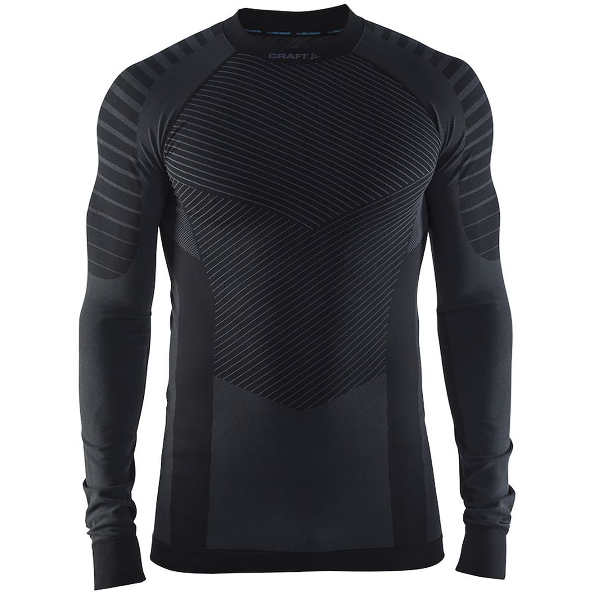 Craft Sportswear Men's Active Intensity Running and Training Fitness Workout Outdoor Sport Base Layer Long Sleeve Shirt: wicking/cooling/aerobics/sport/athletic/underwear/top, Black/Granite, Small