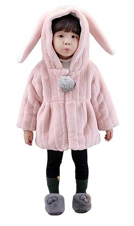 f0ea44a16e6f7 HIMOE ベビー コート うさぎ 耳 女の子 アウター フード付き パーカー 赤ちゃん 可愛い ウサギ耳 ベビー コスチューム