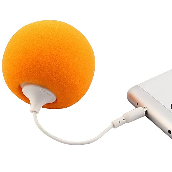 Amazon.com: DealMux portátil 3,5 milímetros de áudio Speaker Jack Music Player 2 PCS laranja para PC portátil Telefone: Home Audio & Theater