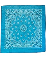 Carolina Have, A, Hank Paisley Bandannas, 22-Inch by 22-Inch, Turquoise