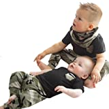 IGEMY Newborn Infant Summer Baby Boy T shirt Tops Camouflage Pants Outfits Clothes Set