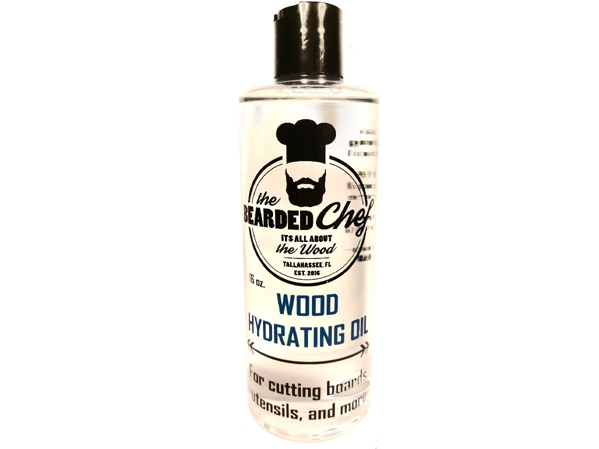 The Bearded Chef - Food Grade Mineral Oil Butcher Blocks - Cutting Boards- Utensils - 16 ounces - Made in the USA - Veteran Owned Business - The Bearded Chef Hydrating Oil