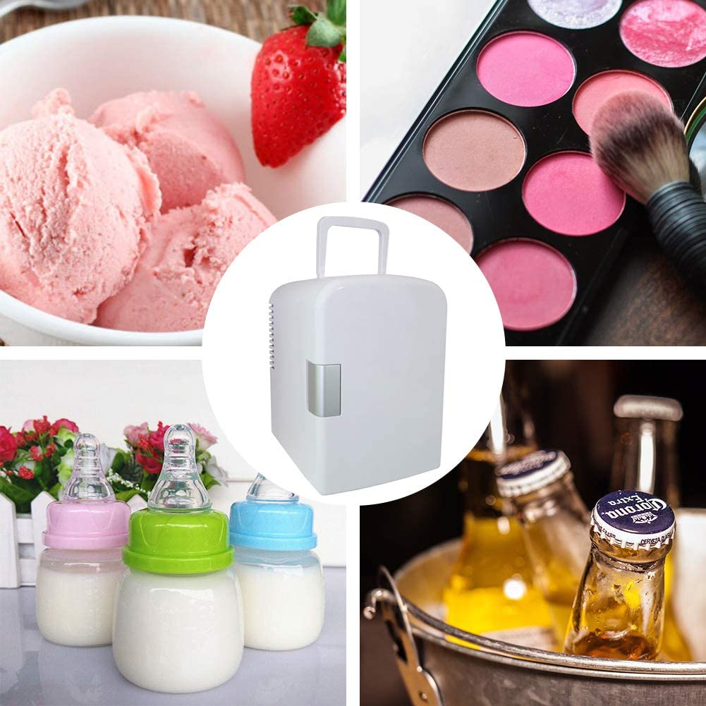 CW8-4L Foods and Drinks Adventurers Portable Mini Fridge Thermoelectric Cooler and Warmer Portable Makeup Fridge Car Refrigerator Portable Makeup Fridge for Skin-cares