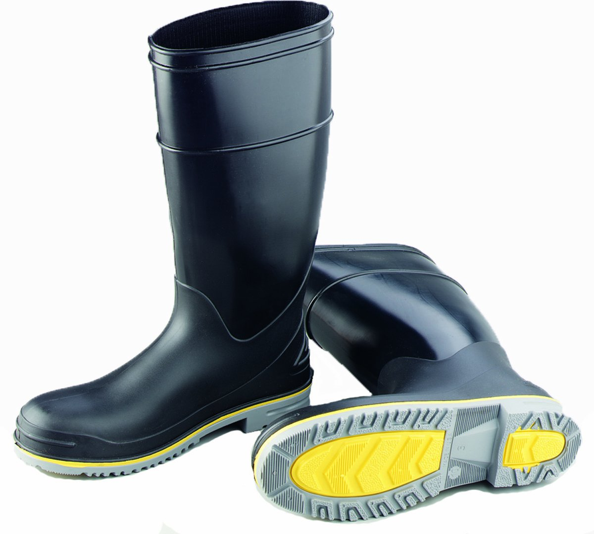 ONGUARD 89908 Polyblend PVC Flex 3 Men's Steel Toe KneeBoots with Power-Lug Outsole, 16'' Height, Size 9