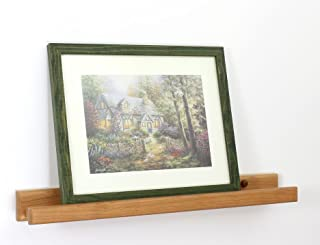 """product image for PegandRail Photo Shelf - Solid Cherry Picture Ledge & Photo Ledge - Art Display - Book Display Shelf - Made in The USA (Natural, 35"""" Long x 3.5"""" Deep)"""
