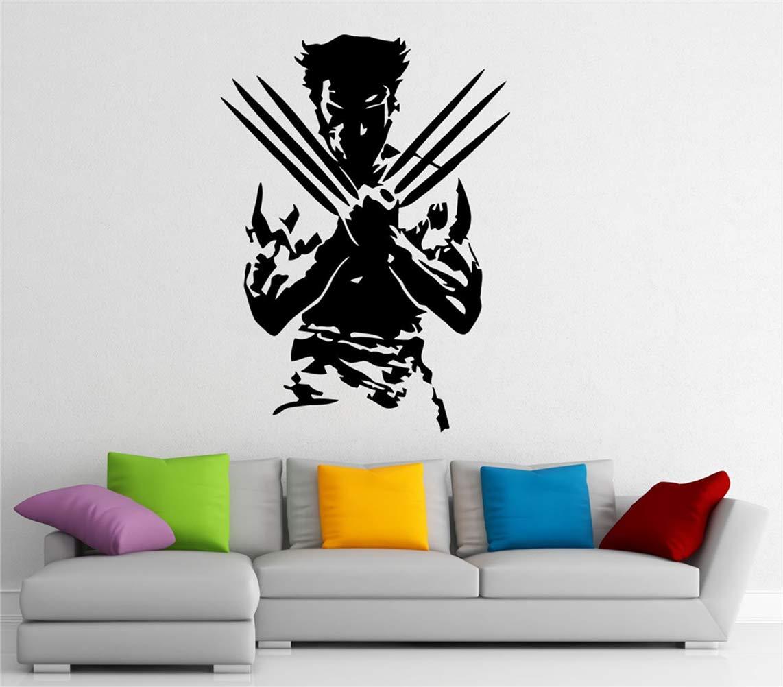 pegatinas de pared 3d infantil Wolverine Superhero Tatuajes de ...