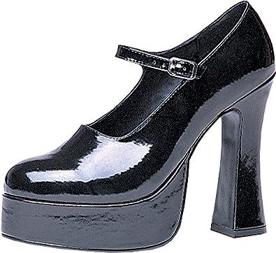 Amazon.com: costume-footwear Mary Jane Negro Plataforma ...