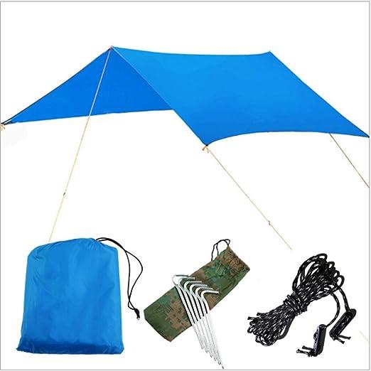 MINGTIAN Necesidad de Construir al Aire Libre Impermeable Super Gran Canopy Simple Camping Carpa Multi-Persona Familia Playa toldo pérgola Picnic Impermeable Anti-fouling Mat 300 * 300cm: Amazon.es: Hogar