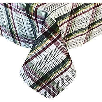 "Lintex 100/% Cotton Tablecloth ~ MESA DOBBY STRIPE ~ 70/"" Round **NEW**"