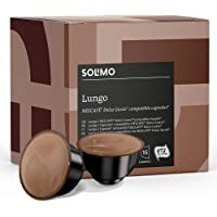 Marca Amazon - Solimo Cápsulas Lungo, compatibles Dolce Gusto* - café certificado UTZ - 96 cápsulas (6 x 16)