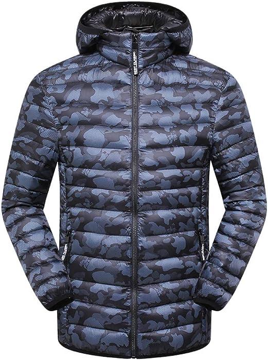 0a9b7f9e90d17 Allywit Mens Camouflage Packable Down Puffer Jacket Winter Lightweight  Zipper Coat Plus Size