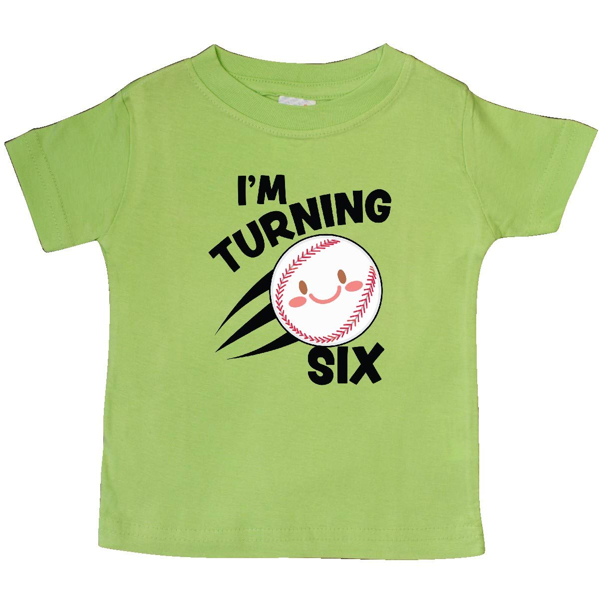 inktastic Im Turning 6 with Baseball Baby T-Shirt
